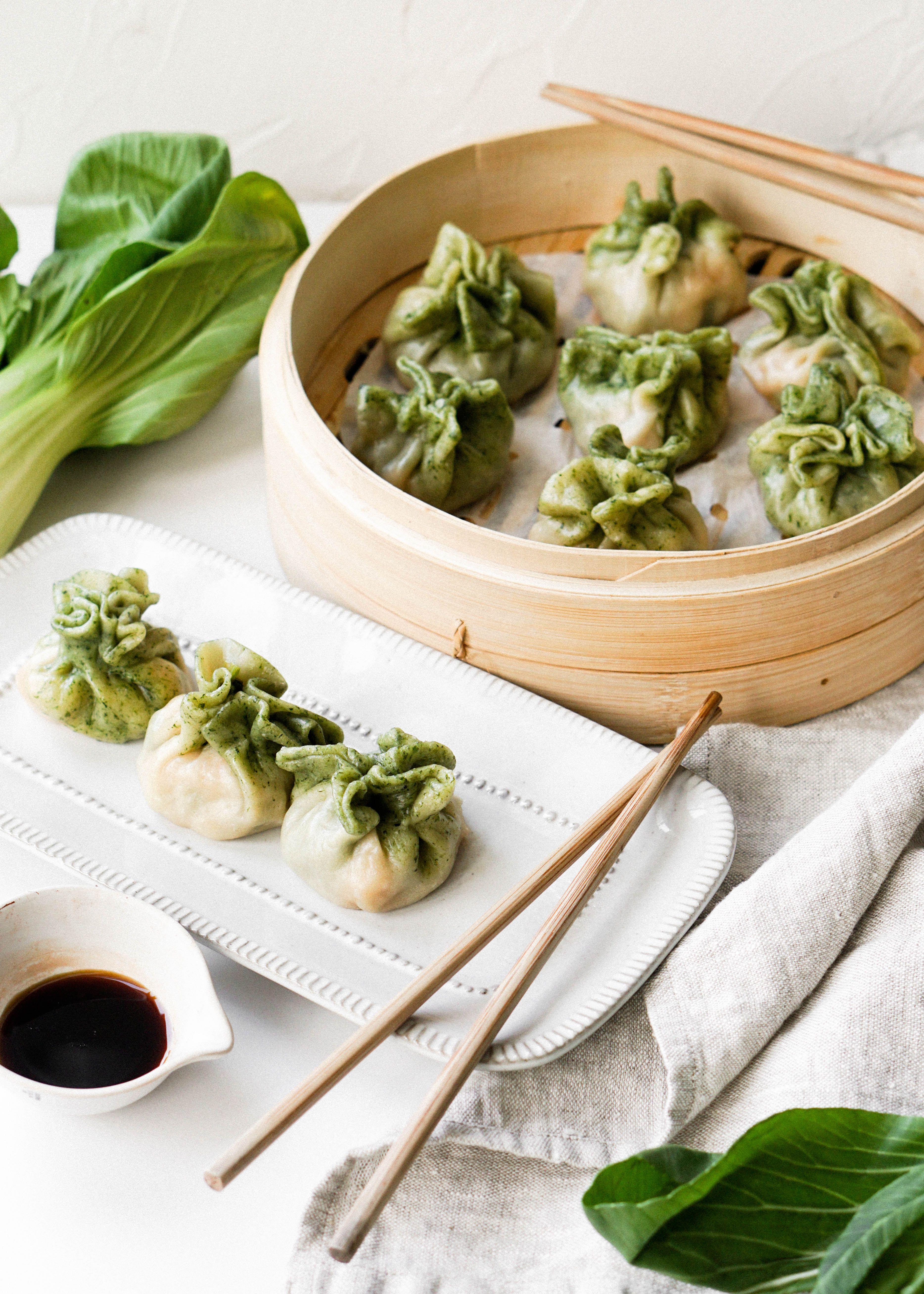 Shrimp Bok Choy Dumplings