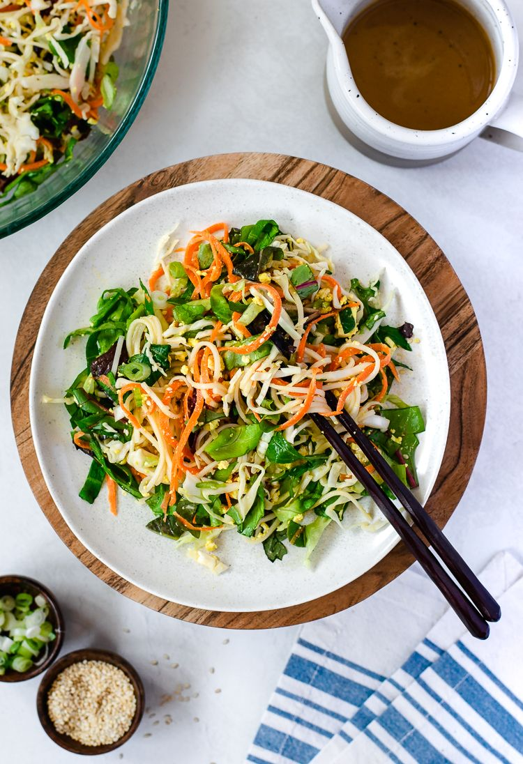 Somen Noodle Salad with Carrots and Peanut Sauce Dressing