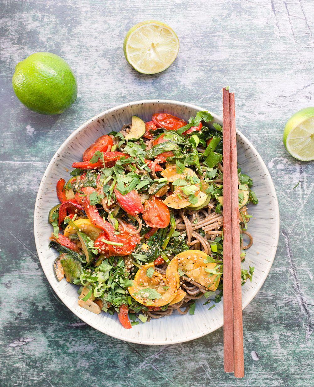 Miso Lime Soba Summer Noodle Salad