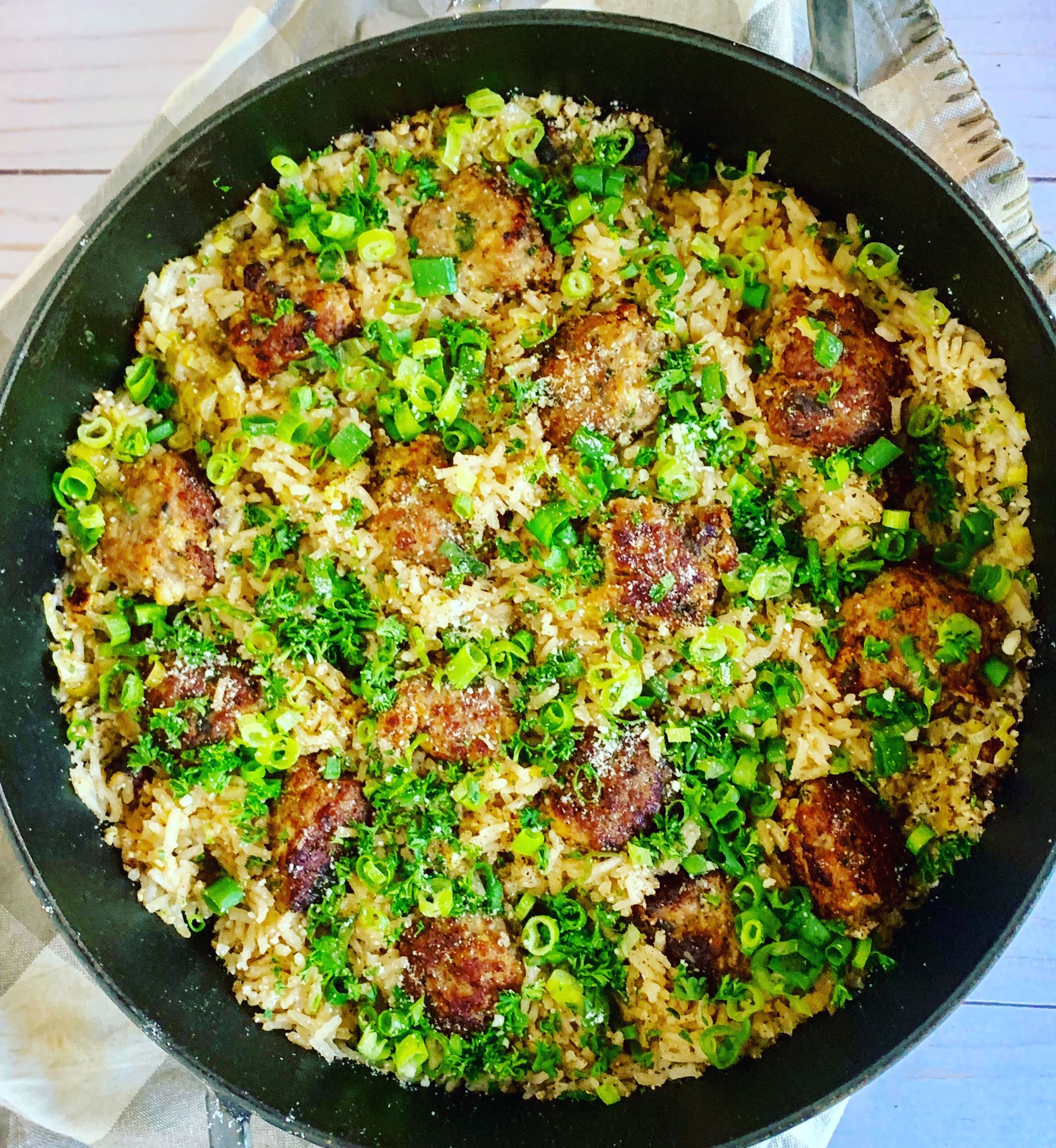Turkey Meatballs with Lime Rice