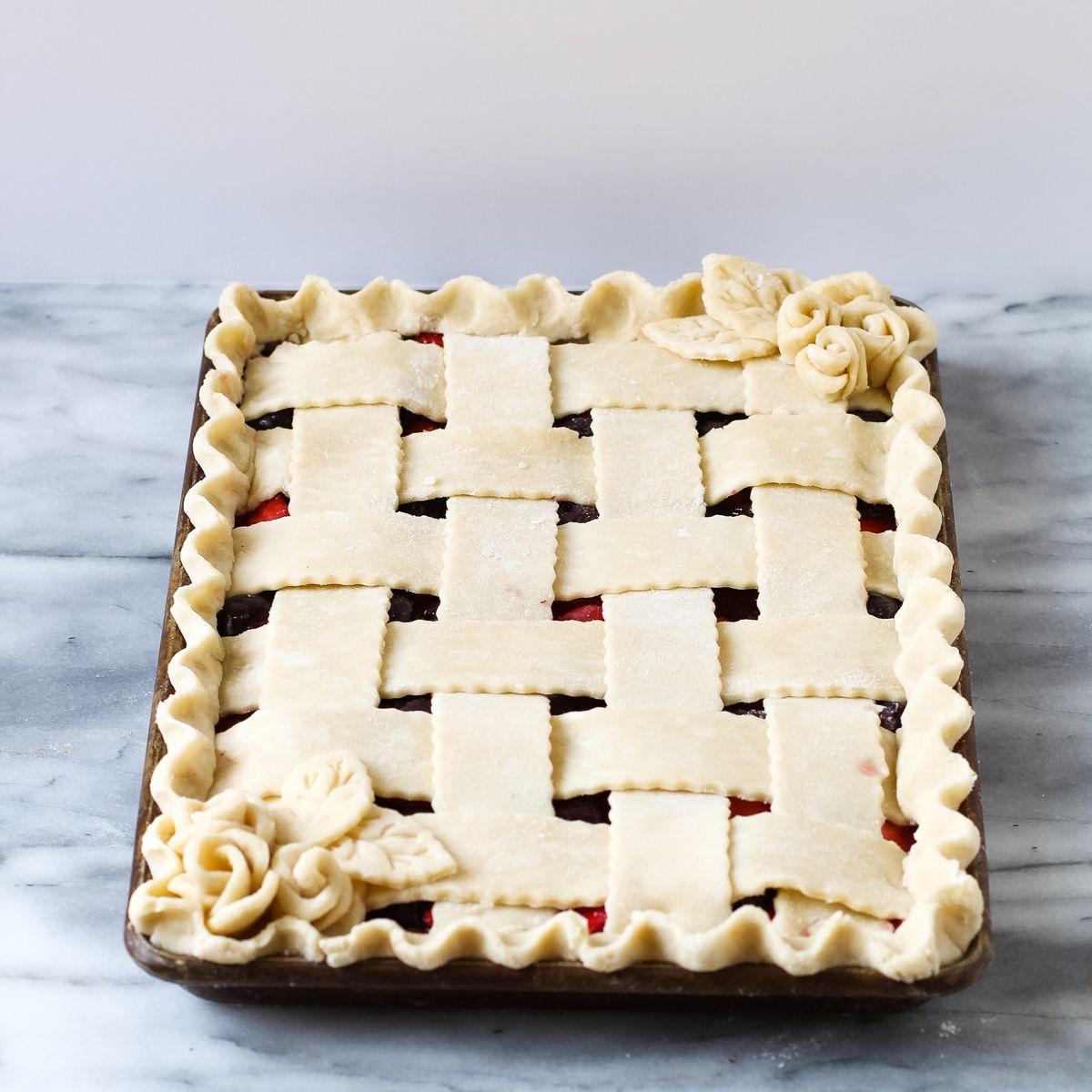 Cherry Strawberry Slab Pie