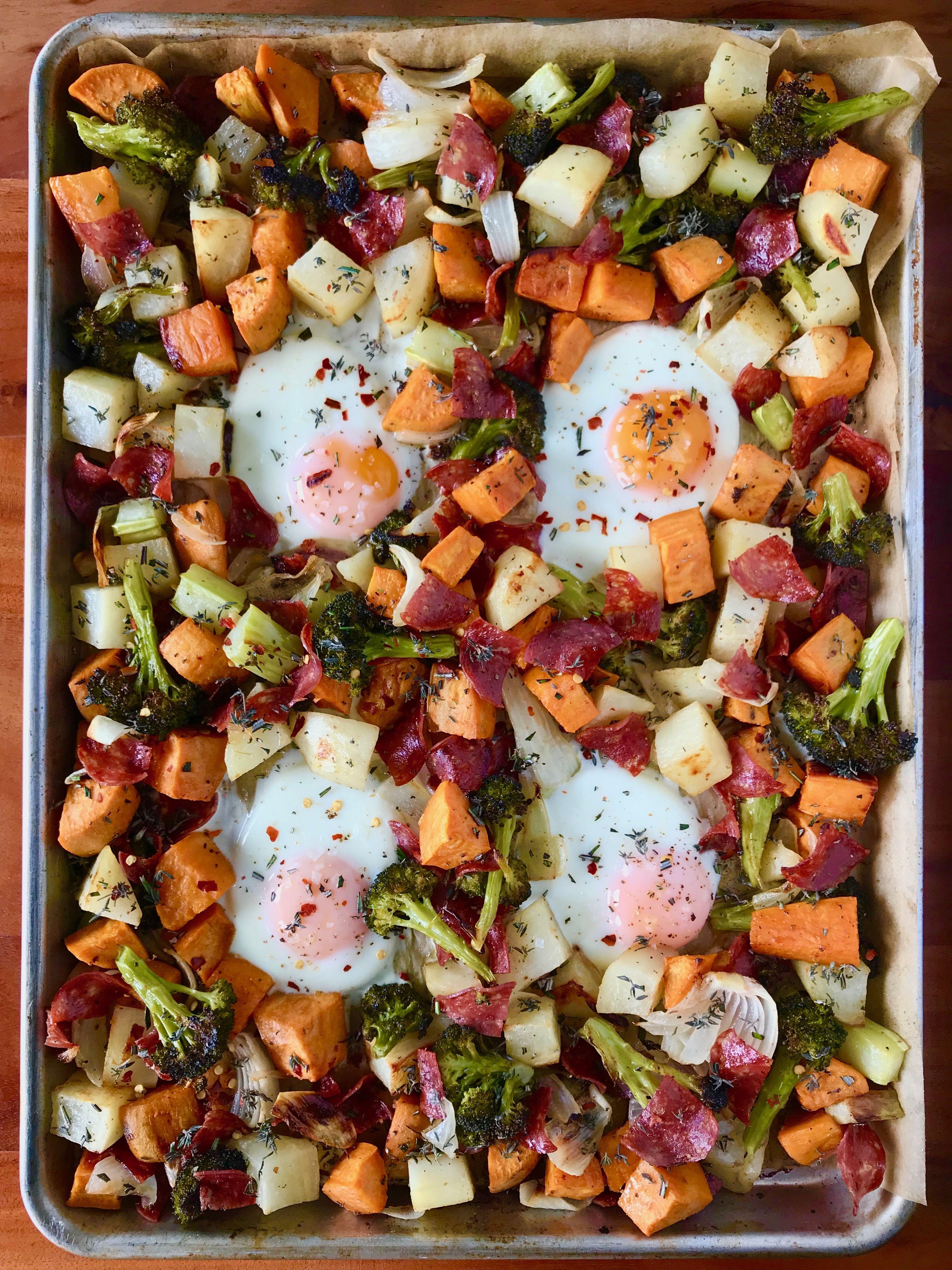 Breakfast Hash and Salami