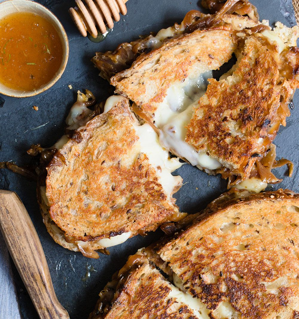 Bourbon Caramelized Onion Grilled Cheese
