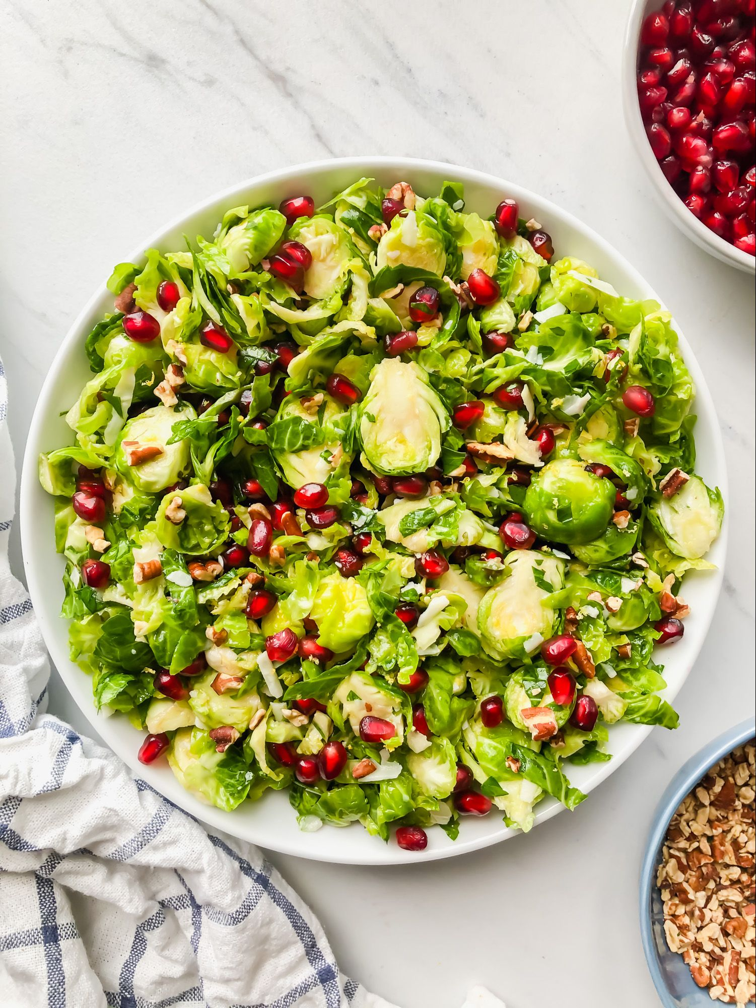 Shaved Brussels Sprout Salad with Parmesan and Pomegranate