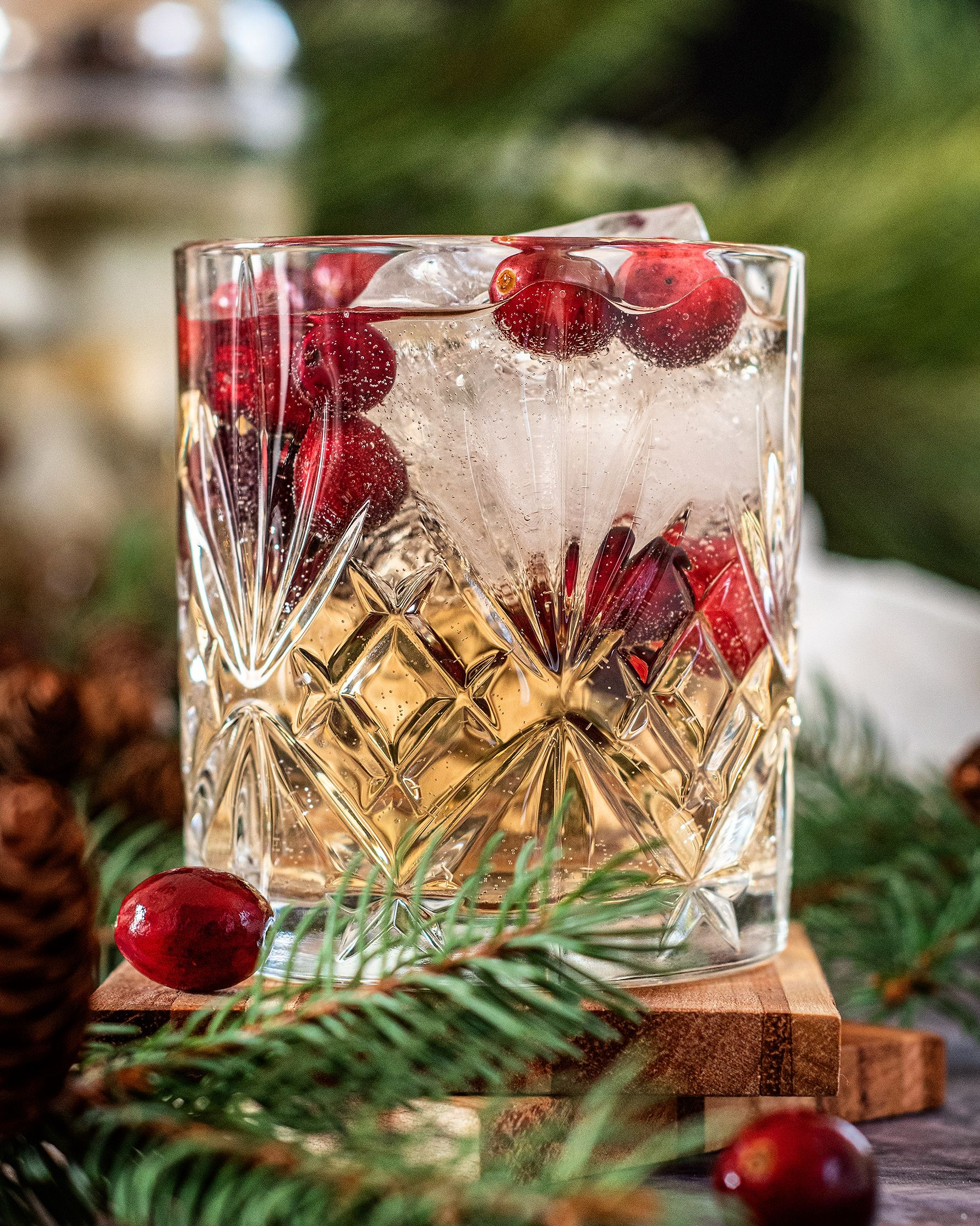 Pine Syrup and Cranberry Gin Buck