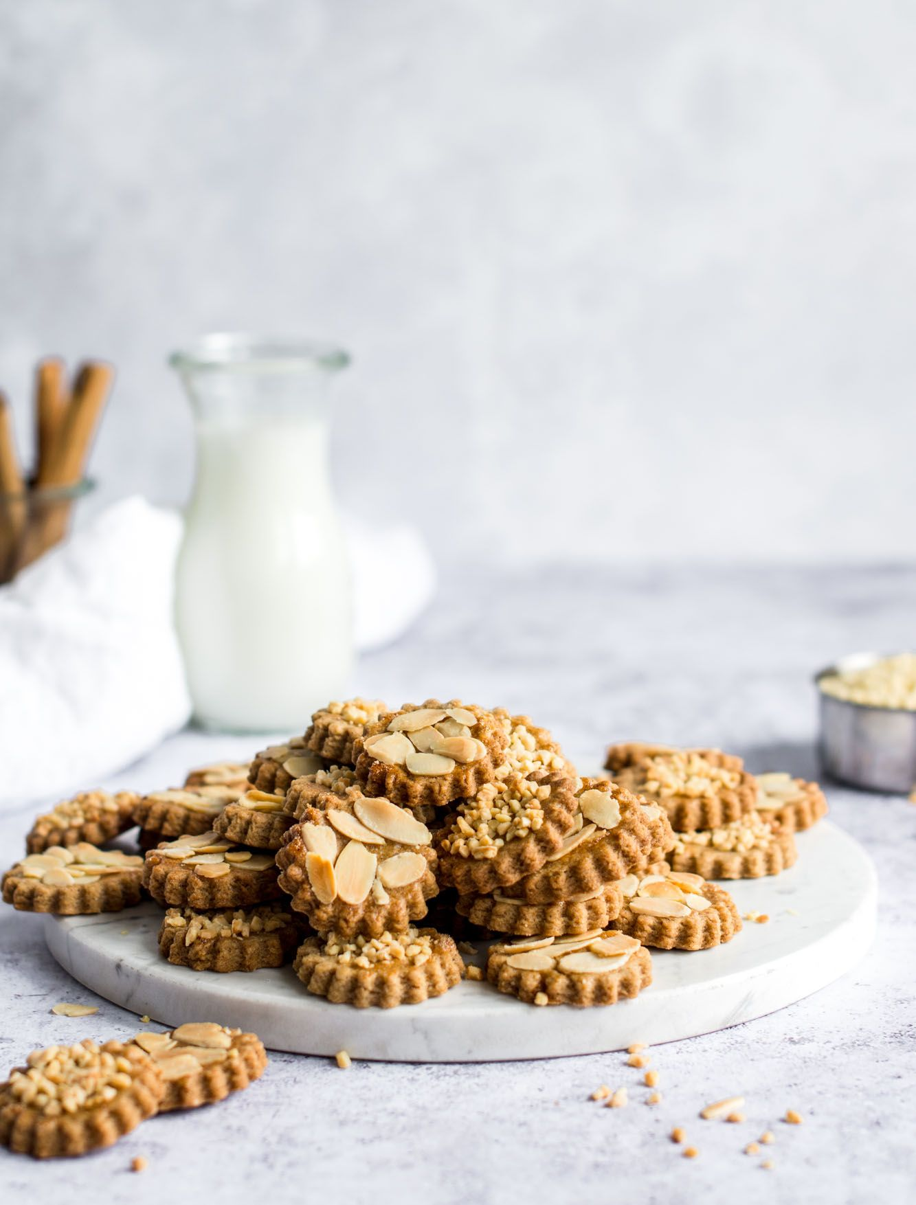 Speculaas Cookies with Cardamom and Almonds