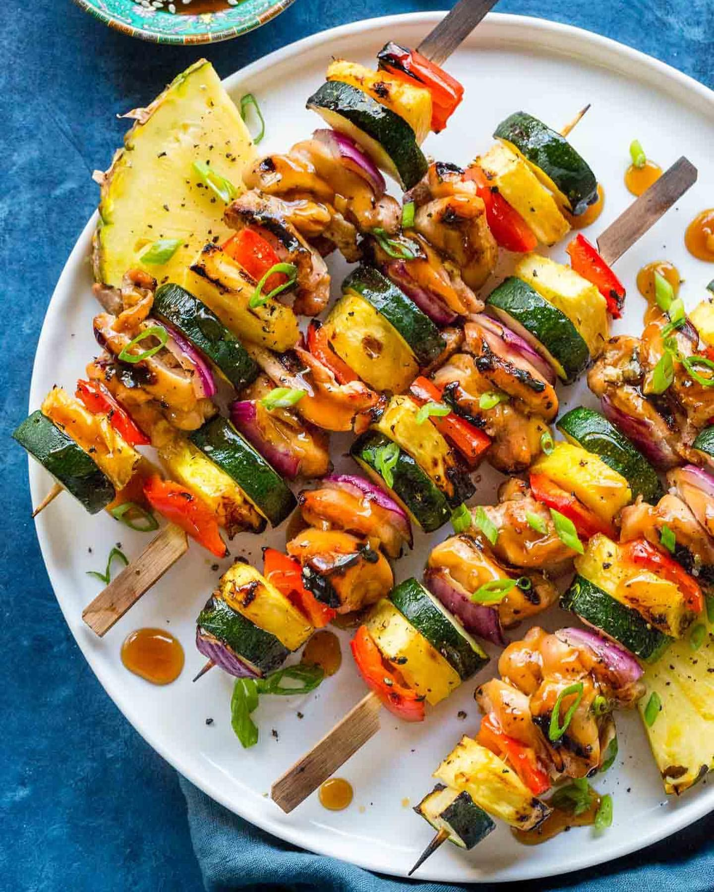 Hawaiian Inspired Teriyaki Chicken Skewers By Jessica Gavin Quick Easy Recipe The Feedfeed
