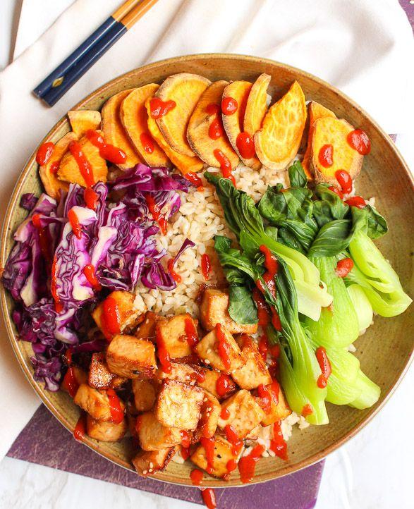 Sesame Ginger Tofu Salad Bowl By Damntastyvegan Quick Easy Recipe The Feedfeed
