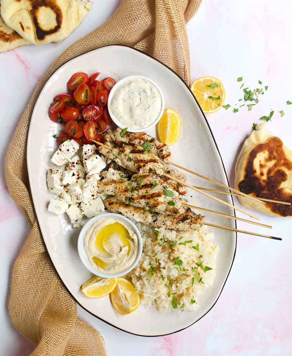 Mediterranean Grilled Chicken Platter By Cherryonmysundae Quick Easy Recipe The Feedfeed