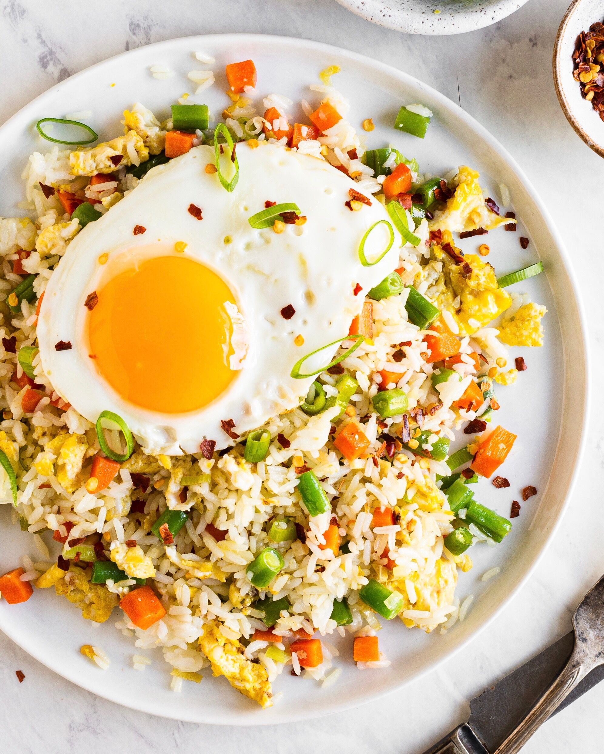 Vegetable Fried Rice With Egg By Bravotopchef Quick Easy Recipe The Feedfeed
