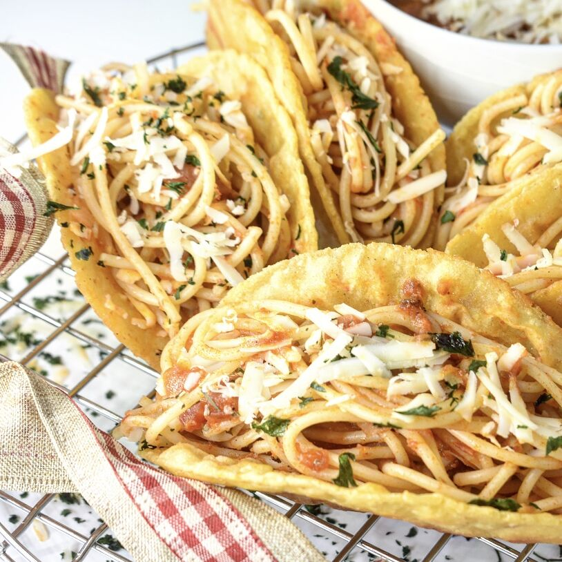 Spaghetti Tacos By Cecesrecipes Quick Easy Recipe The Feedfeed