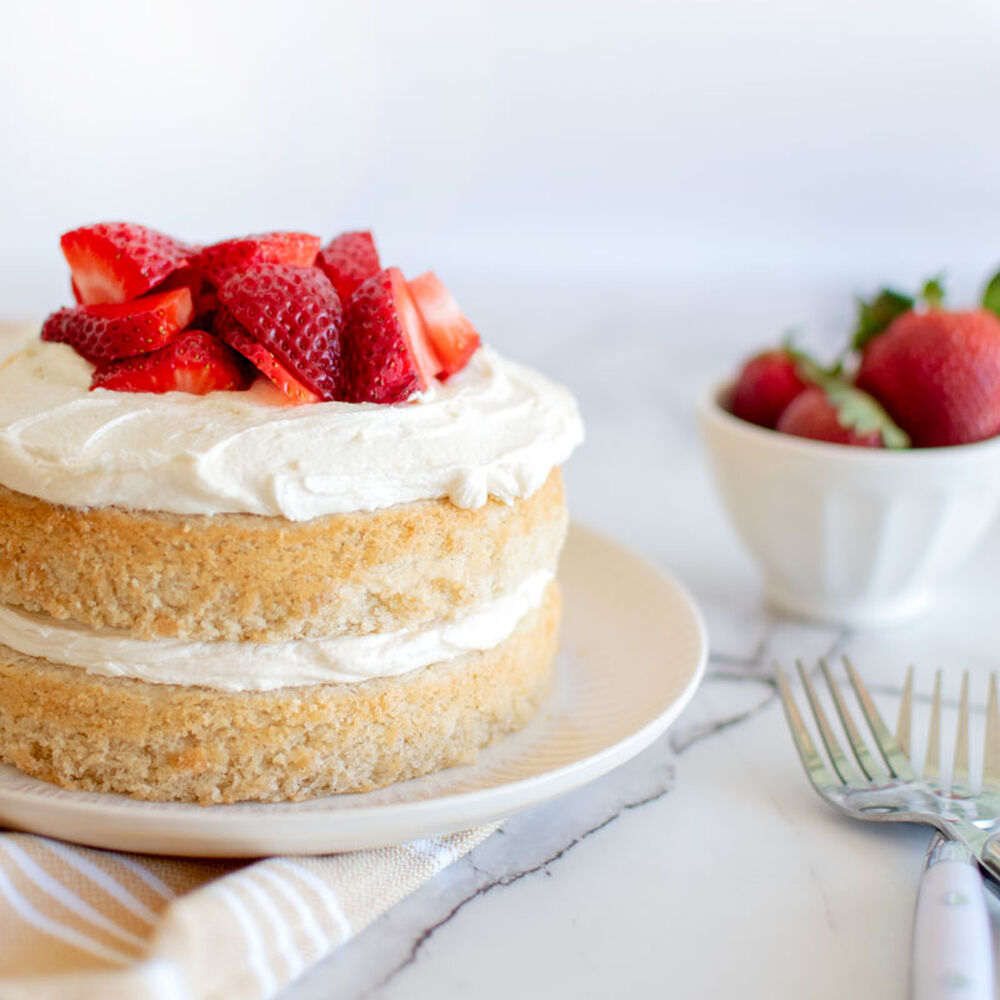 Eggless Strawberry Shortcake By Mimibakescookies Quick Easy Recipe The Feedfeed