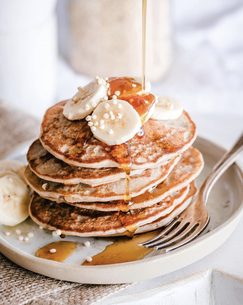 Banana Buckwheat Pancakes By Oatmeal Stories Quick Easy Recipe The Feedfeed