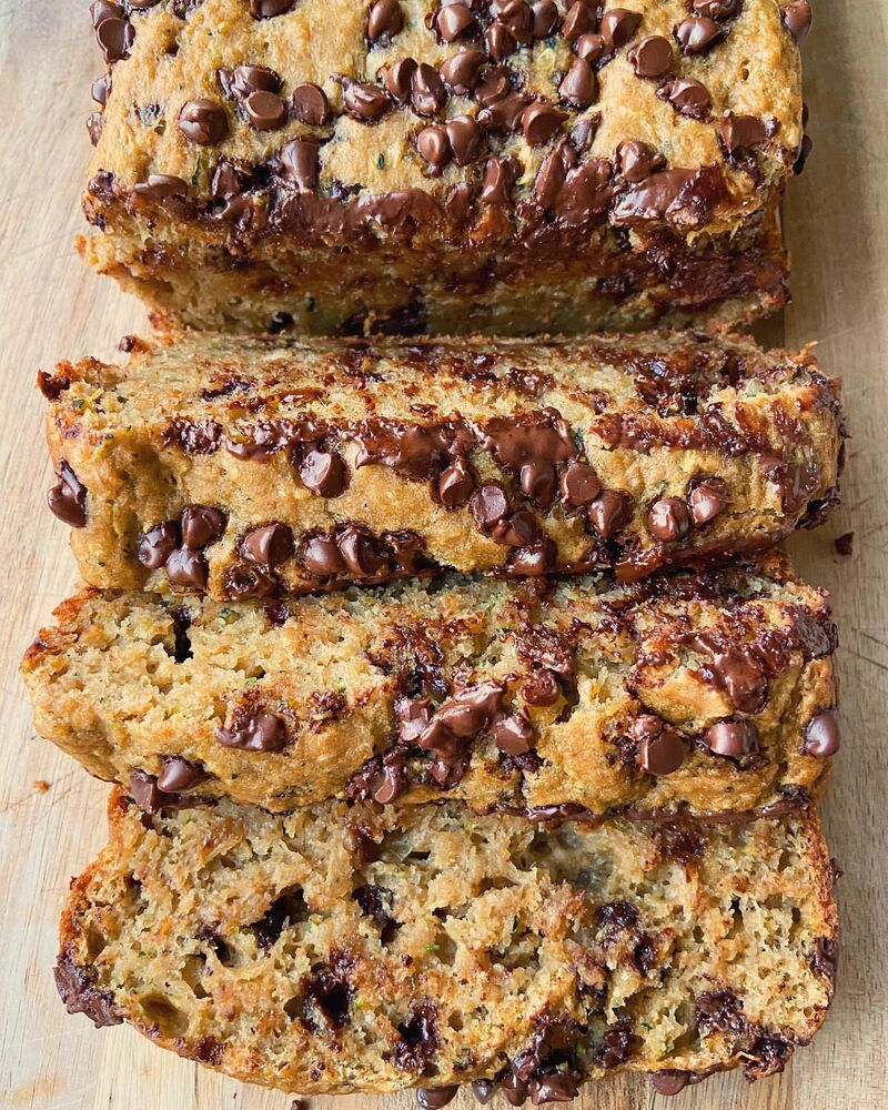 Chocolate Chip Zucchini Bread By Tastyfoodiecheers Quick Easy Recipe The Feedfeed