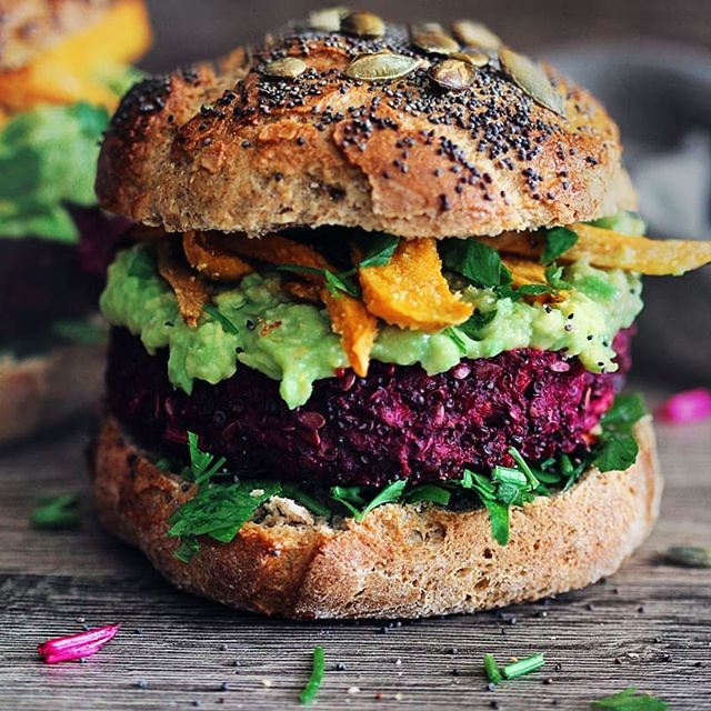 Smoky Beet Burger