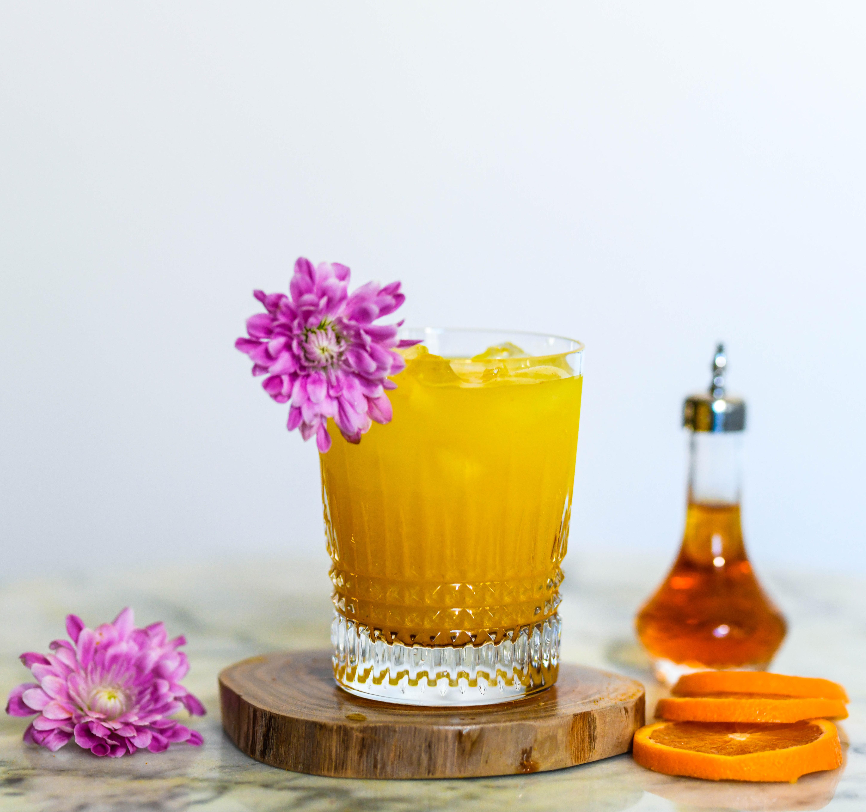 Orange and Vanilla Mezcal Cocktail
