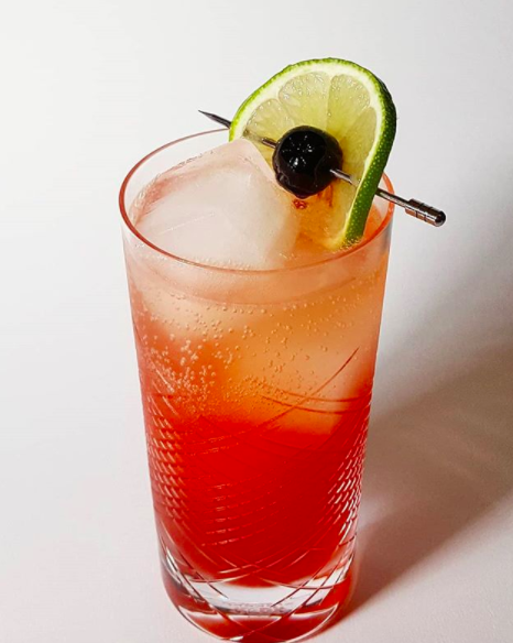 Grenadine Tequila Lime Cocktail