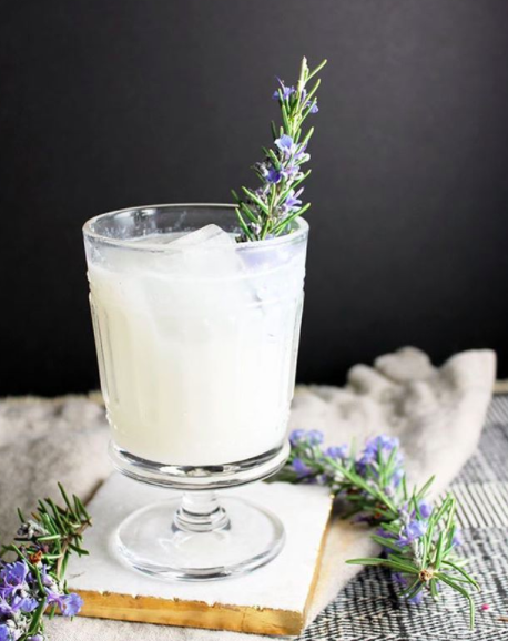 Rosemary Coconut Milk Mezcal Cocktail