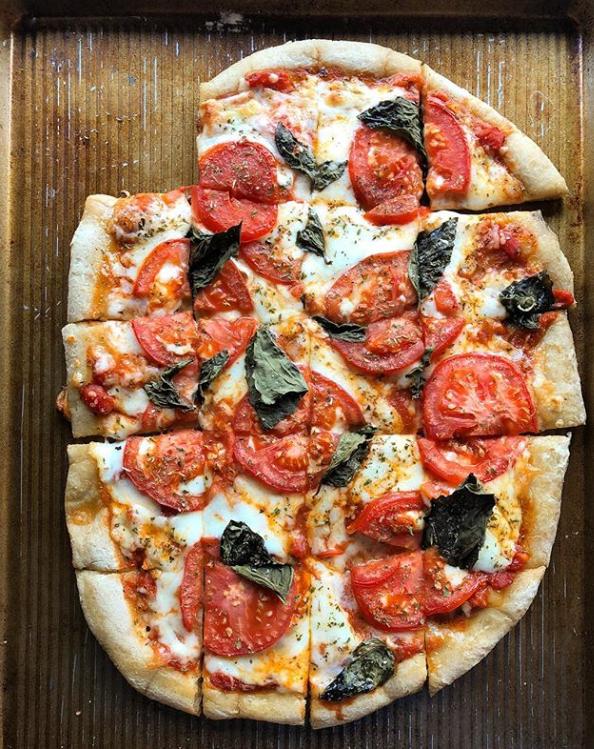 Tomato Basil Cassava Flour Pizza