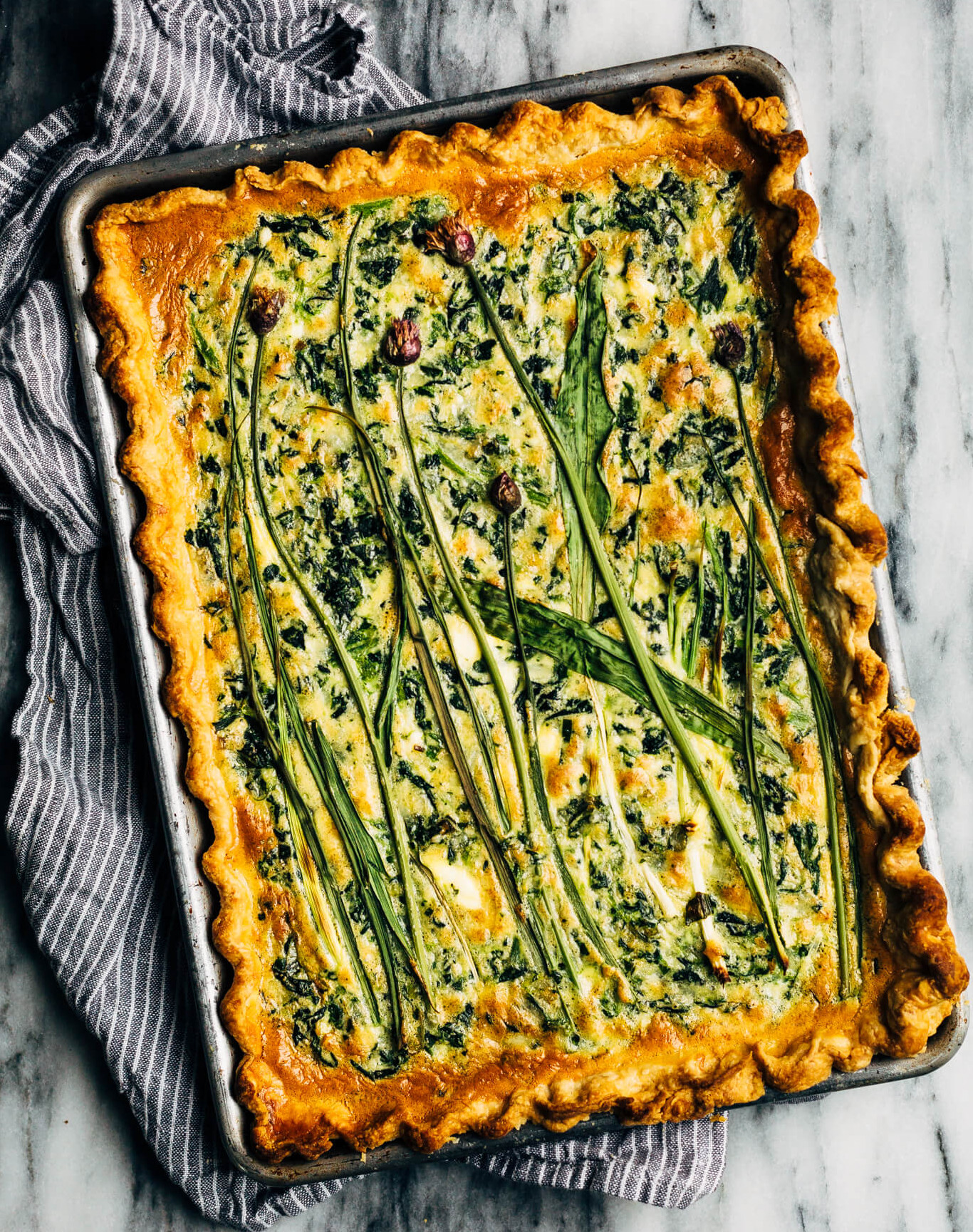 Sheet Pan Spinach Quiche