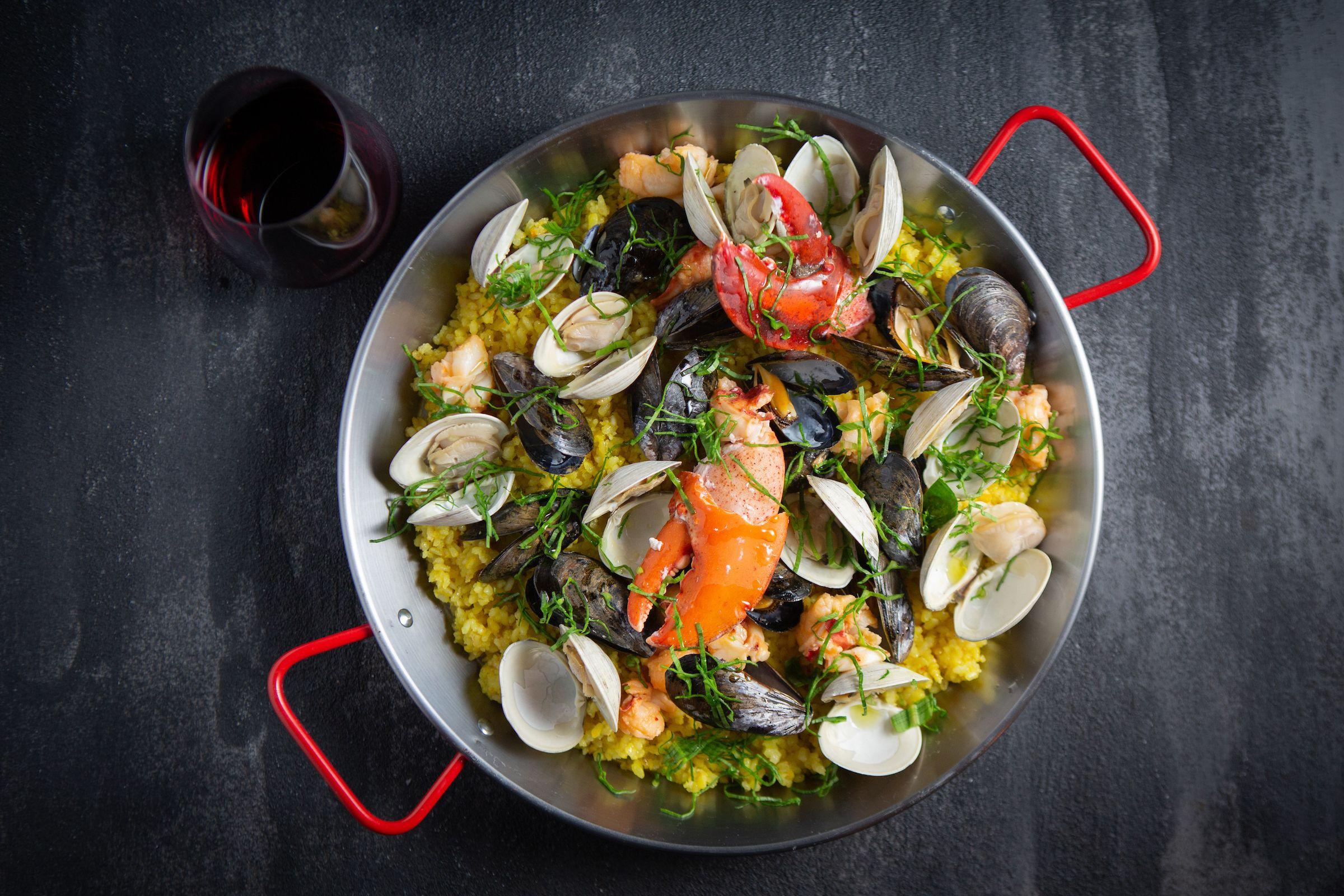 Cast Iron Seafood Paella