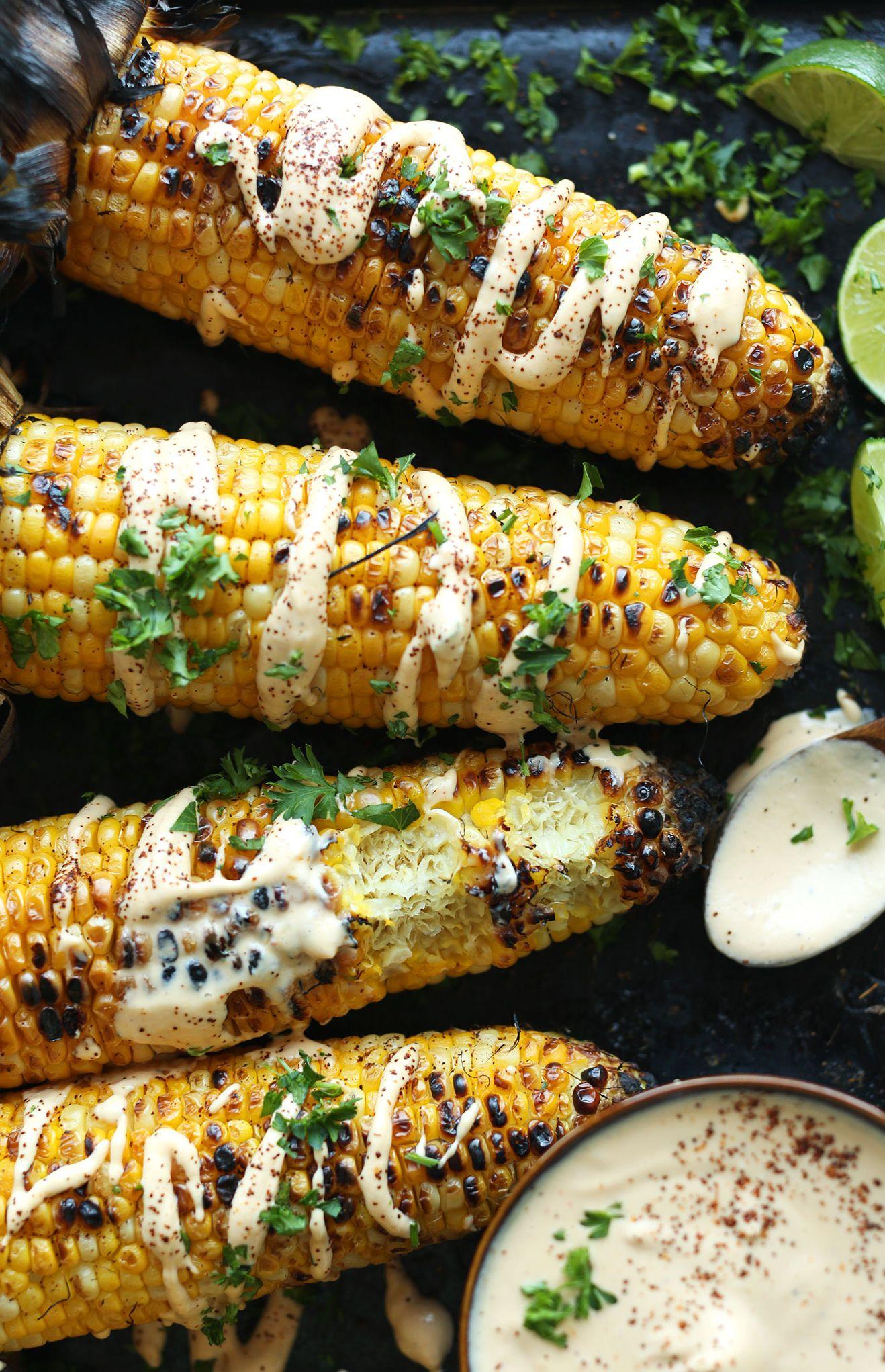 Grilled Corn with Srirarcha Aioli