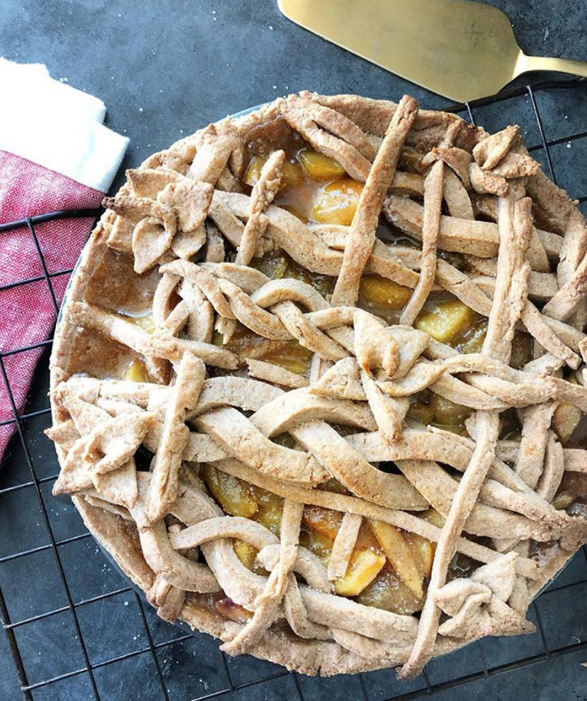Whole Wheat Brown Butter & Maple Caramel Apple Pie