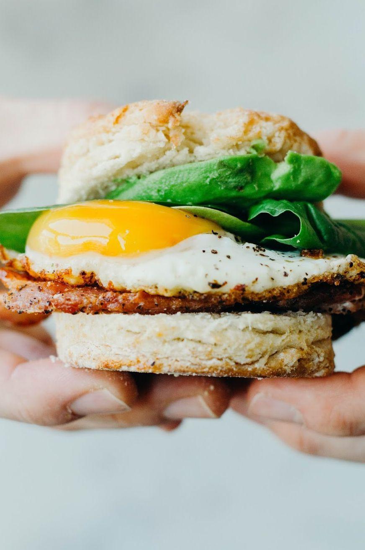 Biscuit Breakfast Egg Sandwich