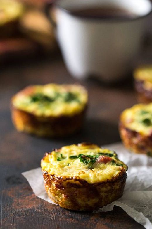 Eggs Muffins With Ham Kale and Cauliflower Rice