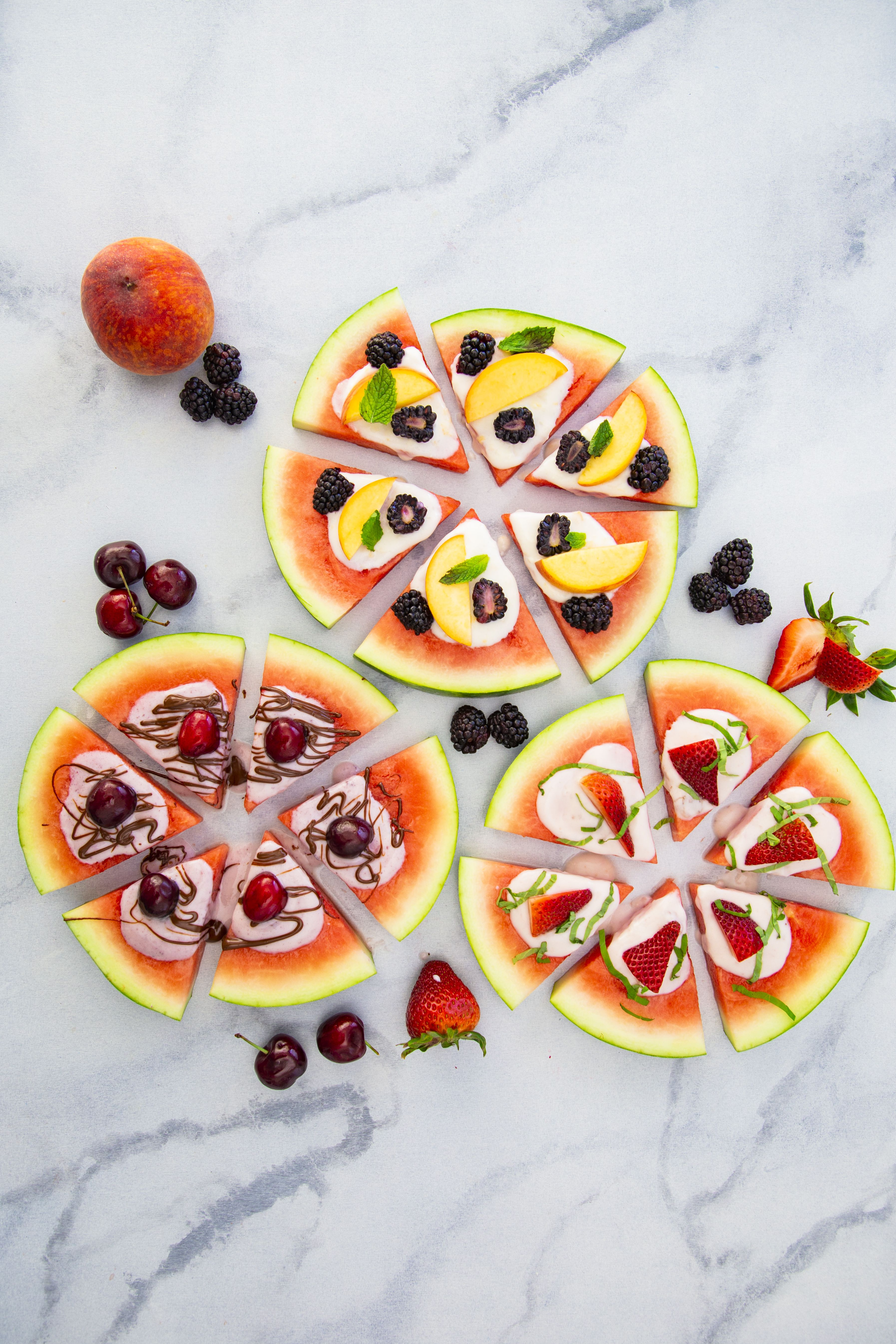 Watermelon Pizza with Yogurt and Fruit