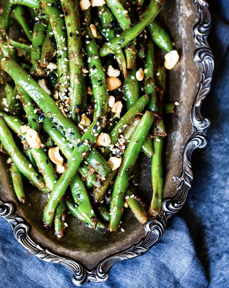 Stovetop Green Beans with Thai Peanut Sauce
