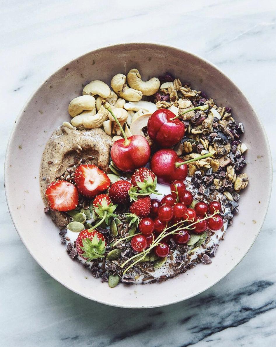 Coconut Yogurt Breakfast Bowl With Almond Butter And Granola Recipe By Sonja Dahlgren The Feedfeed
