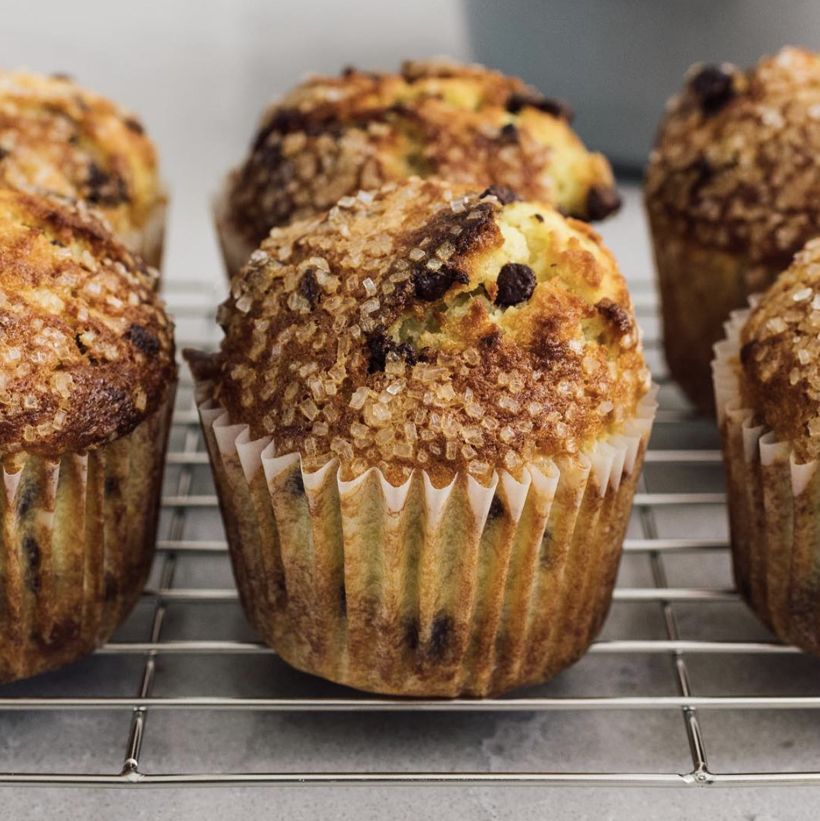 Simply Banana Chocolate Chip Muffins