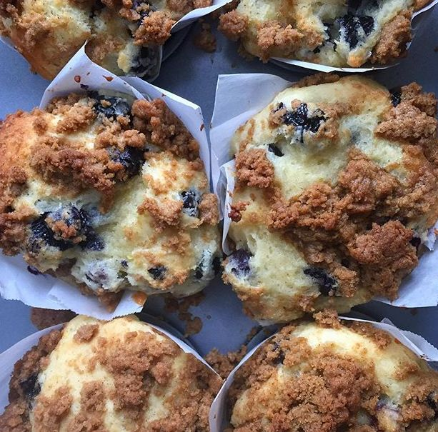 Blueberry Cinnamon Streusel Muffins