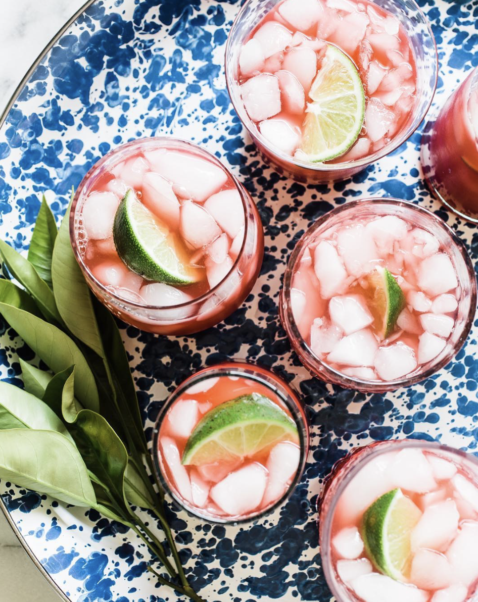 Blood Orange and Lime Margaritas with Mezcal and Tequila