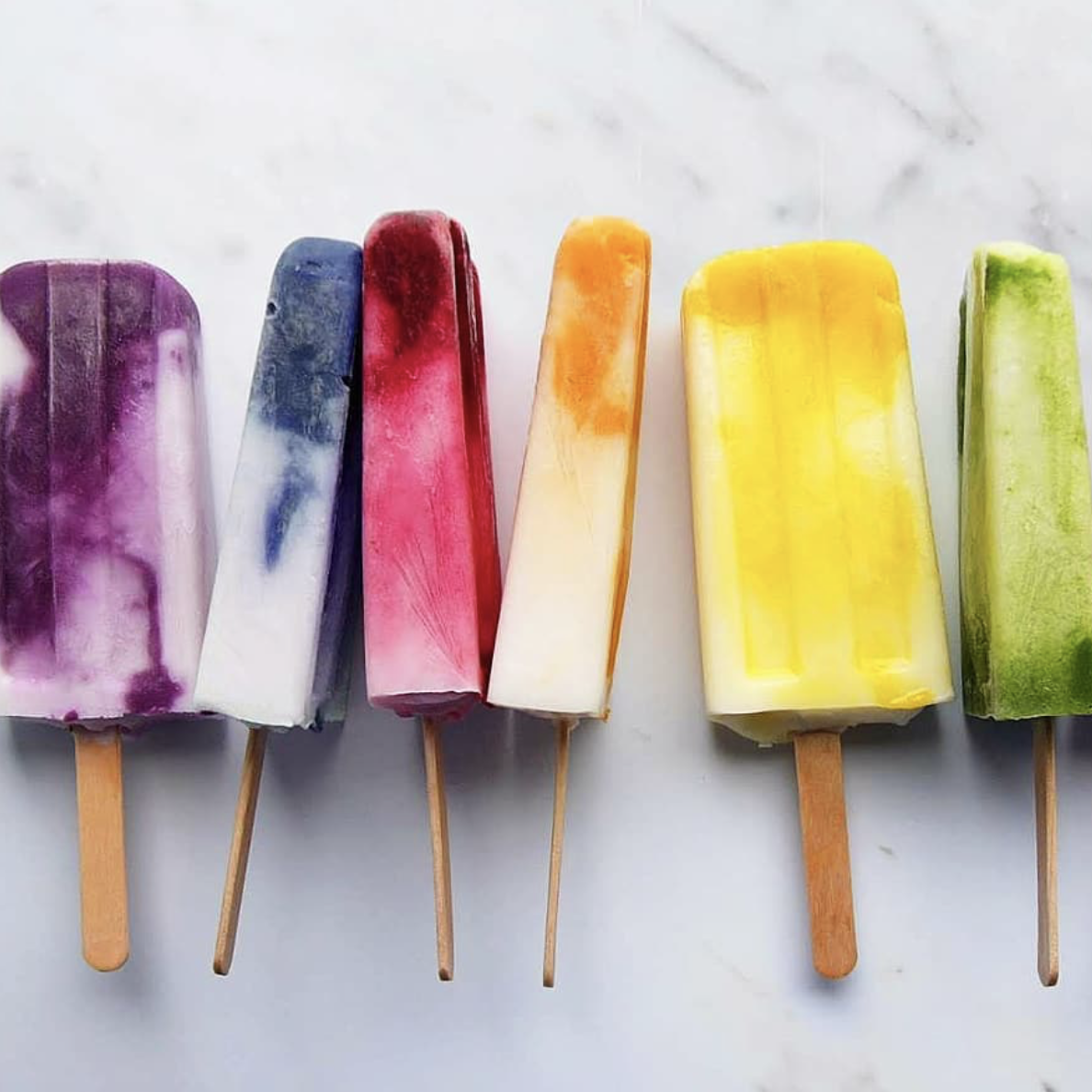 Assorted Colorful Coconut Ice Pops