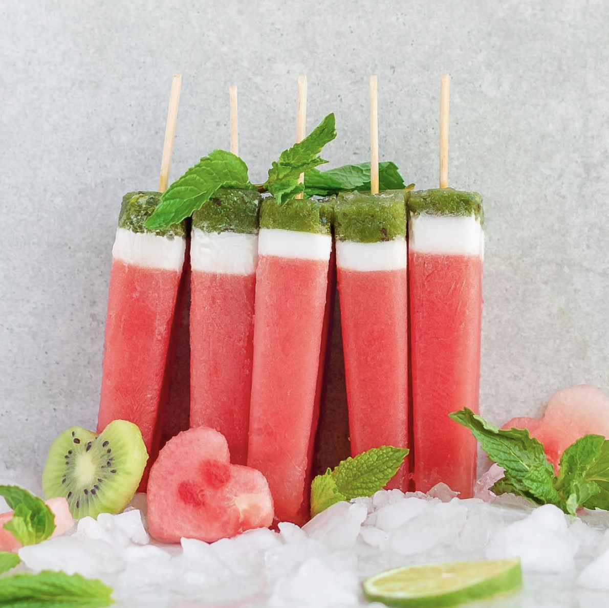 Watermelon-Mint Popsicles