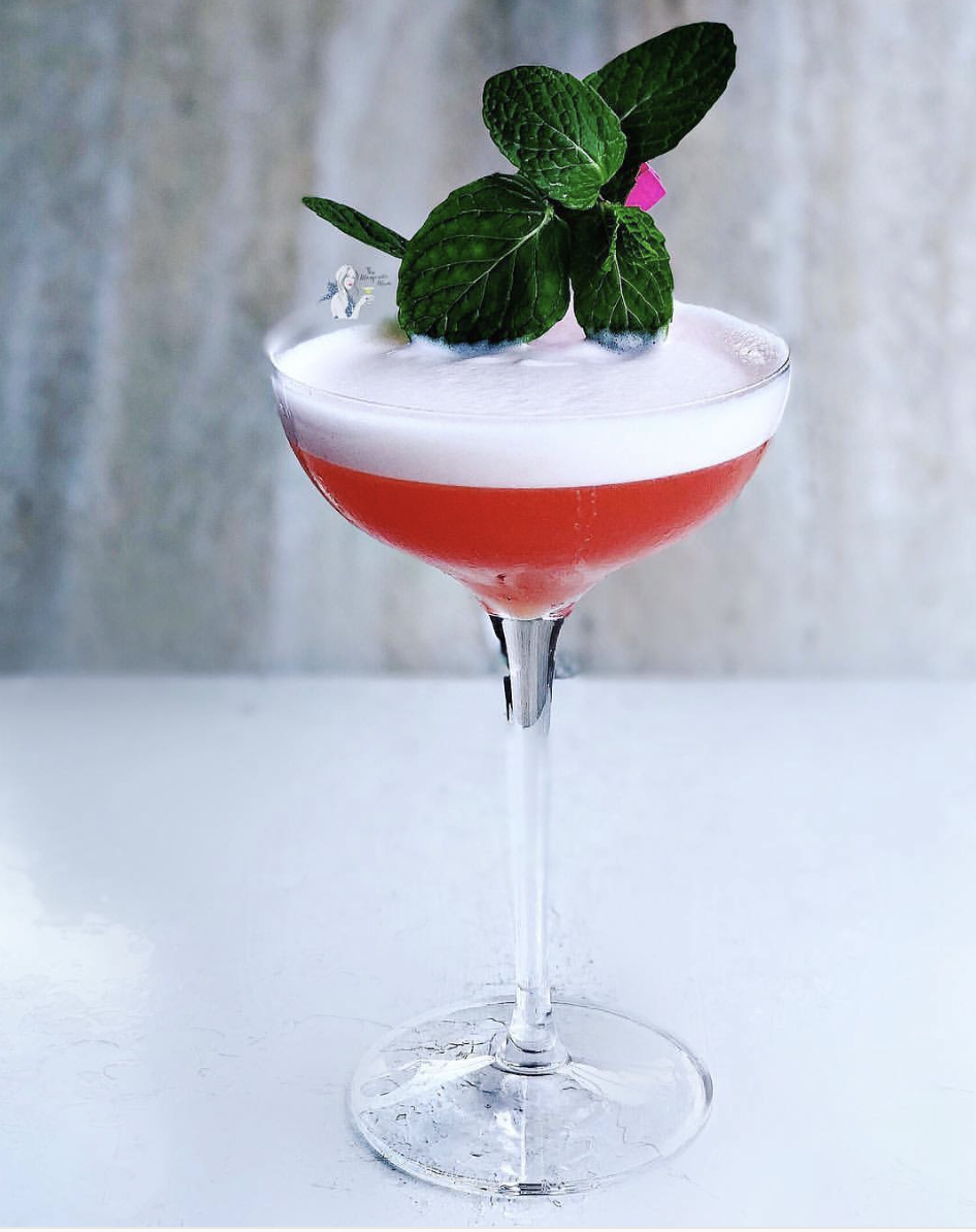 Chili-Coconut Tequila Cocktail with Strawberry Syrup