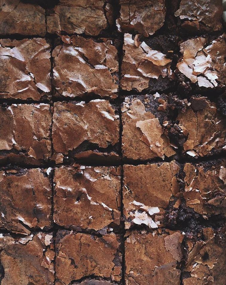 Salted Dark Chocolate Fudge Brownies
