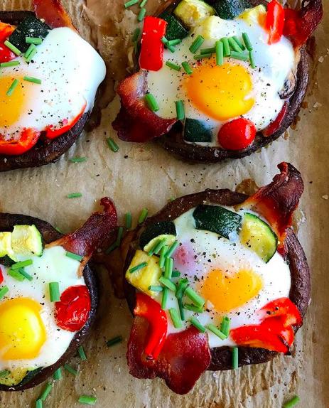 Breakfast Stuffed Portobello Mushrooms By Craveworthybites Quick Easy Recipe The Feedfeed