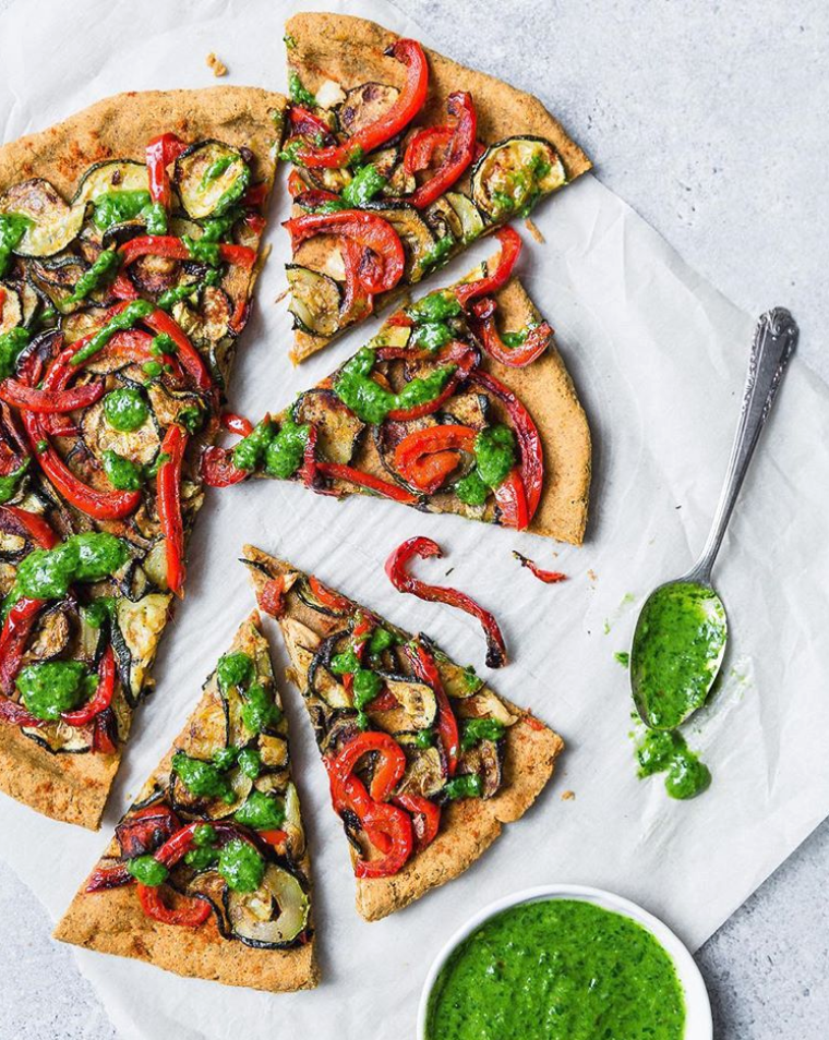 Roasted Vegetable Pizza with Sweet Potato Crust