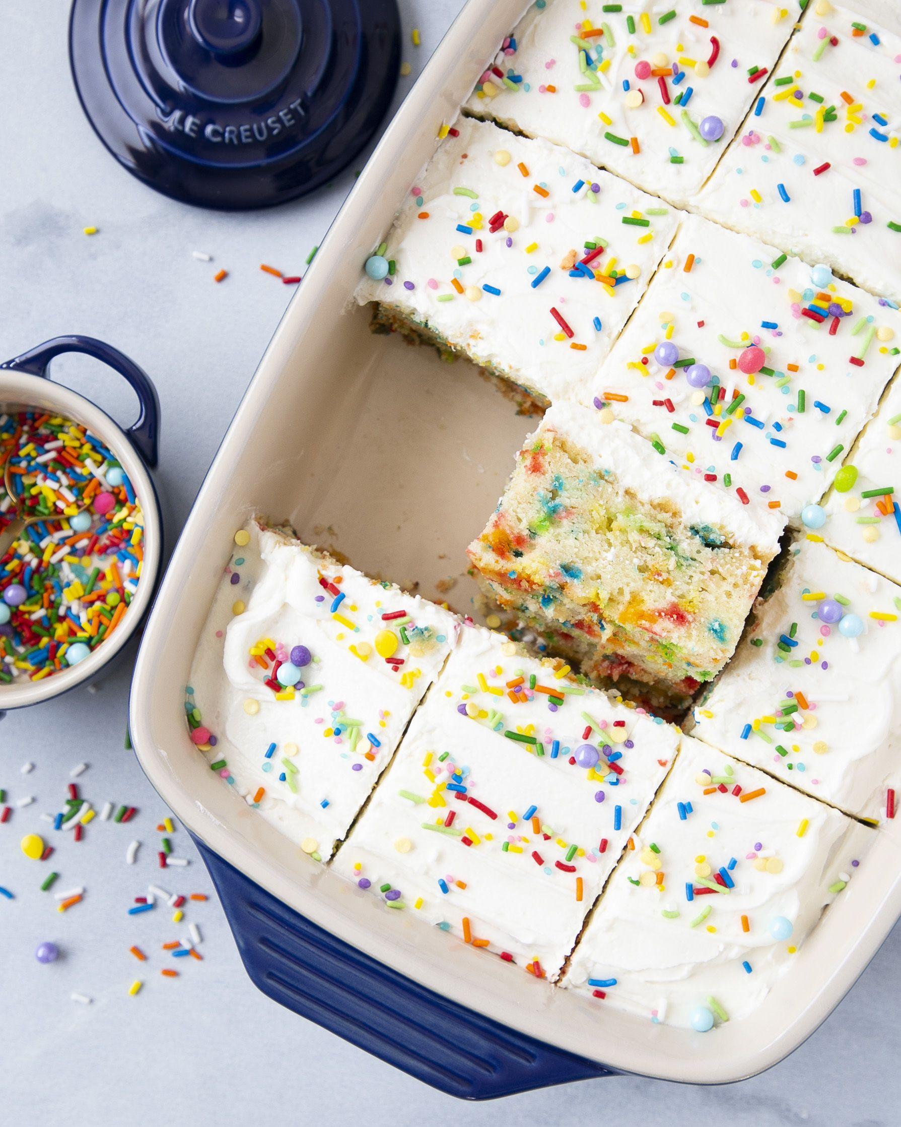 Sprinkle Sheet Cake