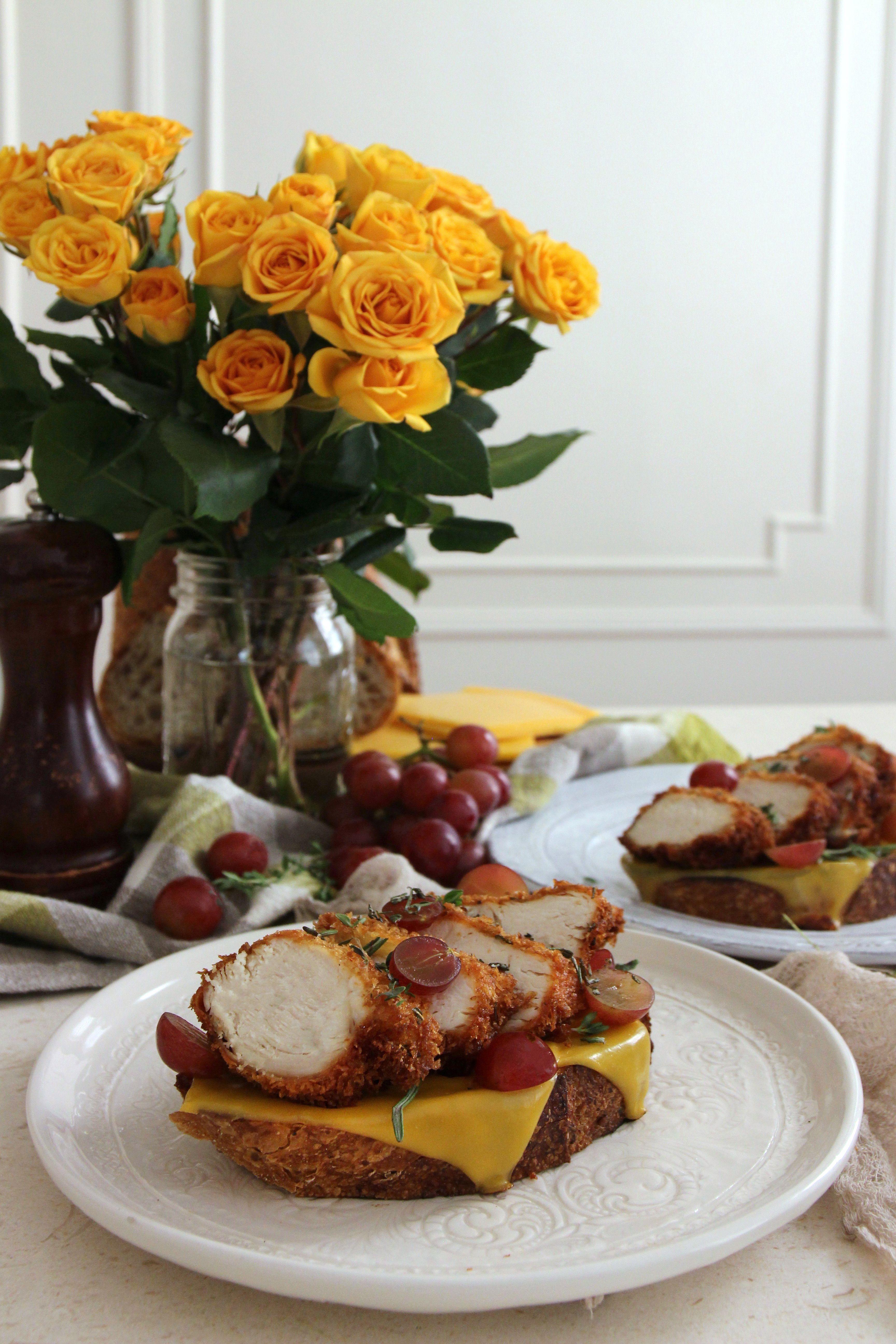Fried Chicken Open-Faced Sandwich