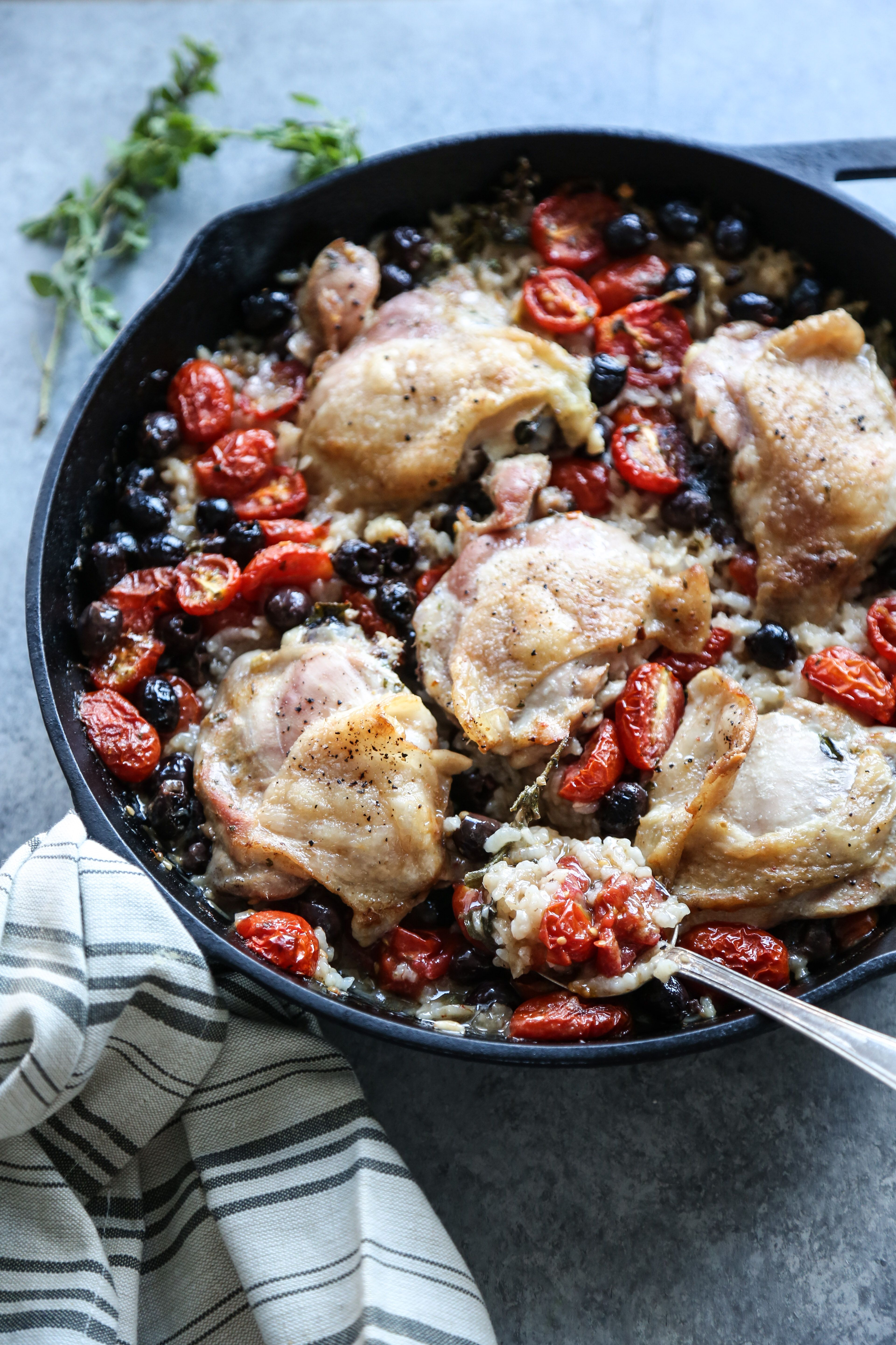 Baked Provencal Chicken and Rice Casserole