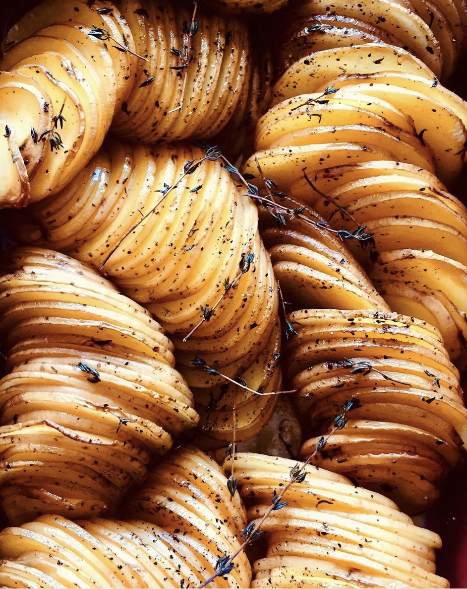 Butter and Herb Hasselback Potatoes