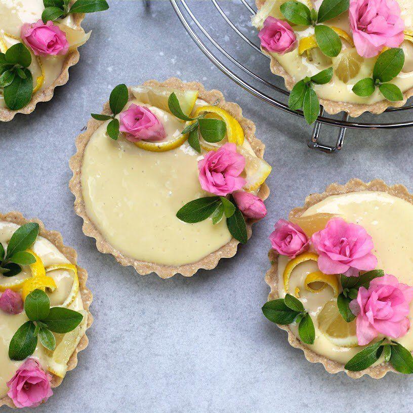Mini Lavender Meyer Lemon Tarts