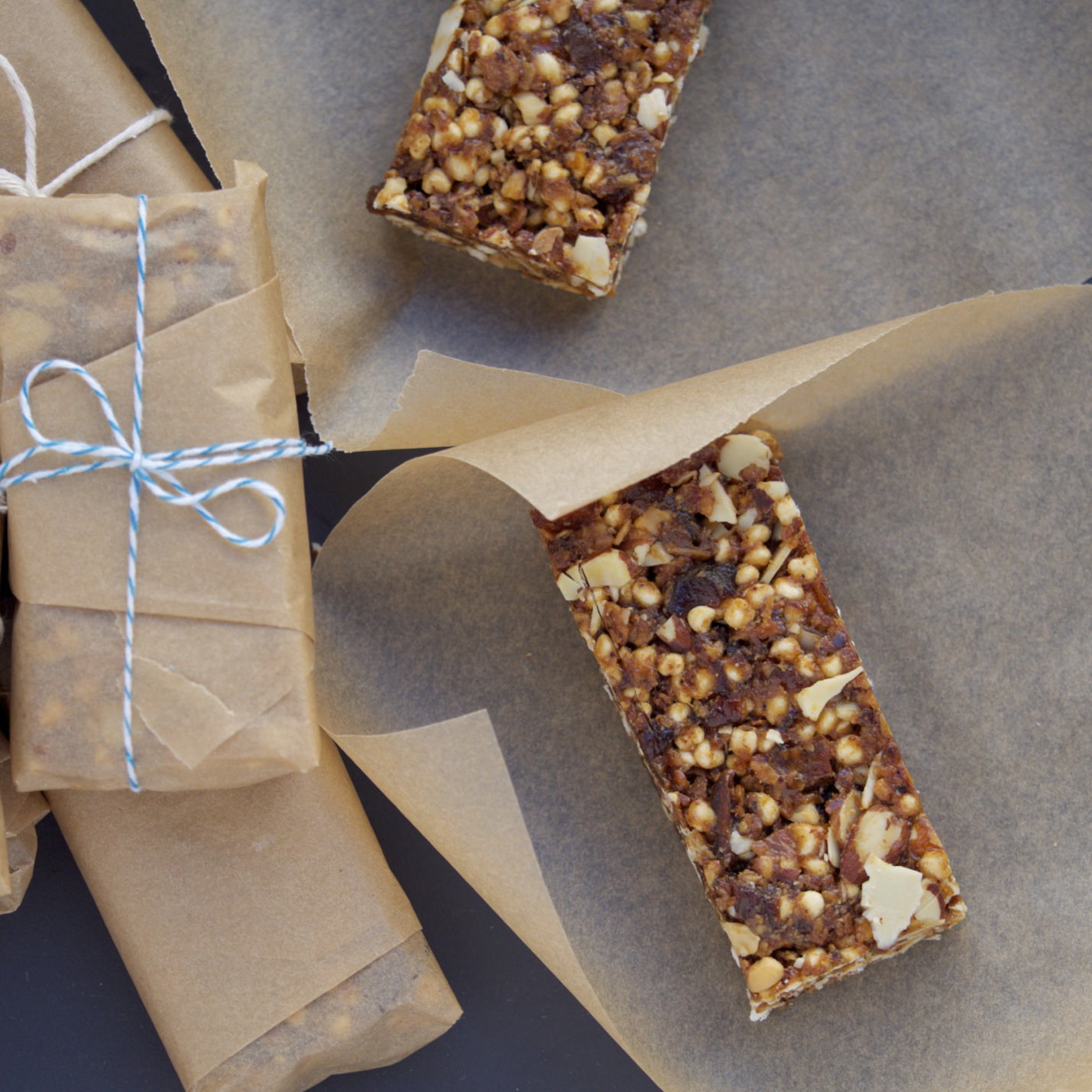 Almond Apricot Bars With Puffed Cereal