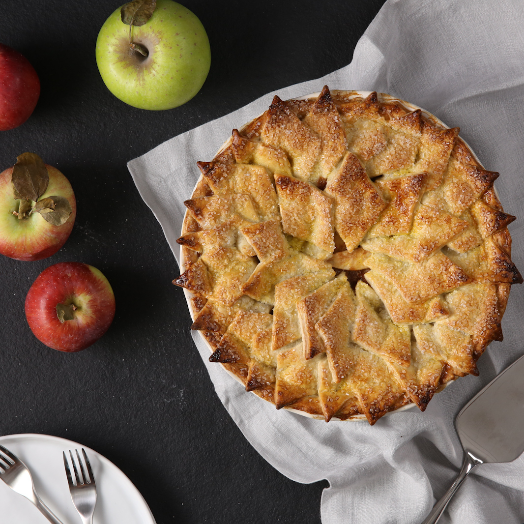 Classic Apple Pie With A Shingled Crust