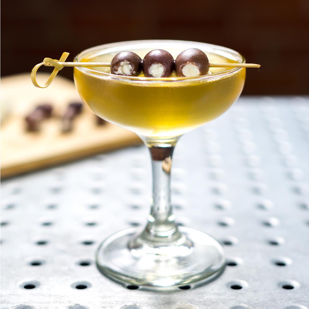 D's Seasoned Vodka Dirty Greek Martini
