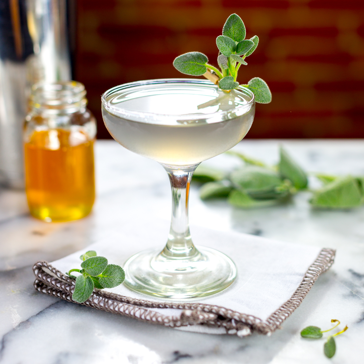 Lavender Vodka Garden Martini
